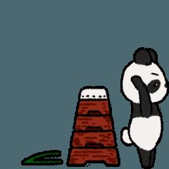 「動く」ふんわりパンダ