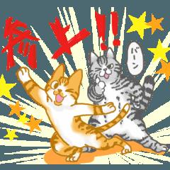 猫スタンプ 茶々丸とターティン