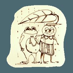 [LINEスタンプ] あいつシリーズ〜動物編 ①〜