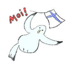 フィンランド好きのための使えるスタンプ