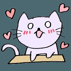 応援する熱狂的ネコ