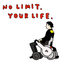 NO LIMIT, YOUR LIFE. スタンプ