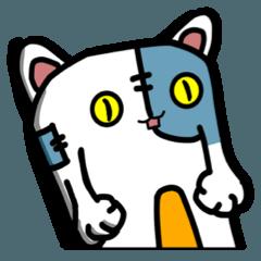 [LINEスタンプ] 猫ジャックのぬいぐるみ2