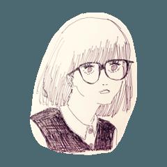 [LINEスタンプ] 女子高生とアイデンティティ