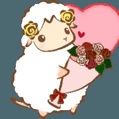 [LINEスタンプ] 夢見る羊のお花屋さん