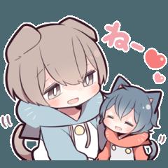 猫少年(スコティッシュフォールド)2