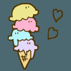 [LINEスタンプ] アイスを愛する会