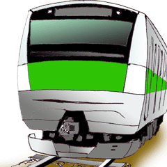 電車の動くスタンプ