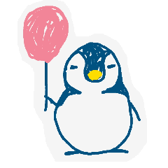 [LINEスタンプ] ゆるカワイイ ラフ描きペンギン