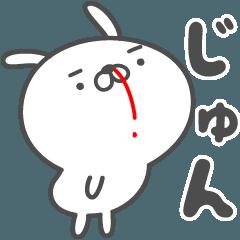 あおいぷん★じゅん★専用うさぎ☆鼻血
