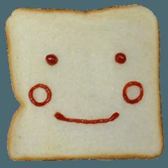食パンにケチャップでお絵かき