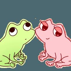 [LINEスタンプ] カエルとちょっとのおたまじゃくし