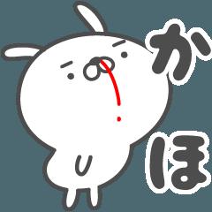 あおいぷん★かほ★専用うさぎ☆鼻血