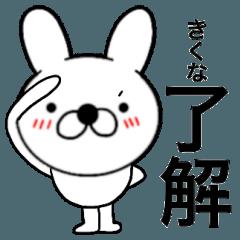 【きくな】が使う主婦が作ったデカ文字兎