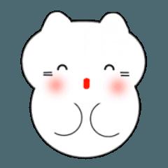 動く!韓国語のかわいい白猫(日本語付)