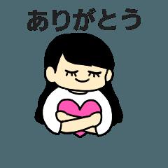 かわいい女の子スタンプ 00