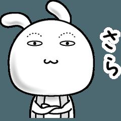 【さら】すっぴんうさぎ