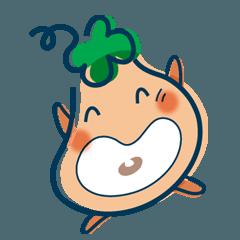 [LINEスタンプ] クローバーの妖精 グリーンちゃん