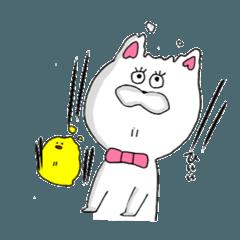 [LINEスタンプ] ネコ山課長婦人