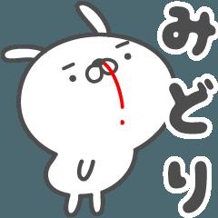 あおいぷん★みどり★専用うさぎ☆鼻血