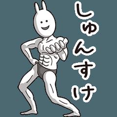 【しゅんすけ】動く筋肉うさぎ