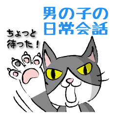 はちわれ猫★男の子の日常会話