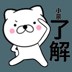 【小泉】が使う主婦が作ったデカ文字ネコ